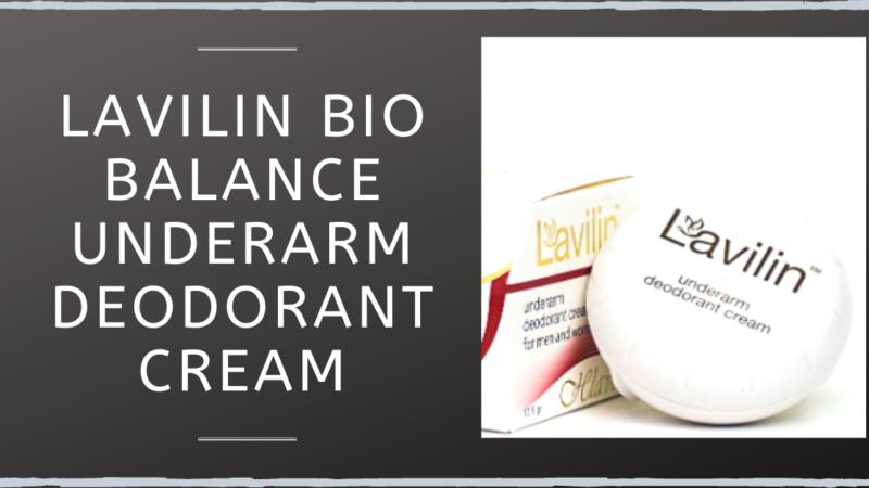 Lavilin Bio Balance Underarm Deodorant Cream