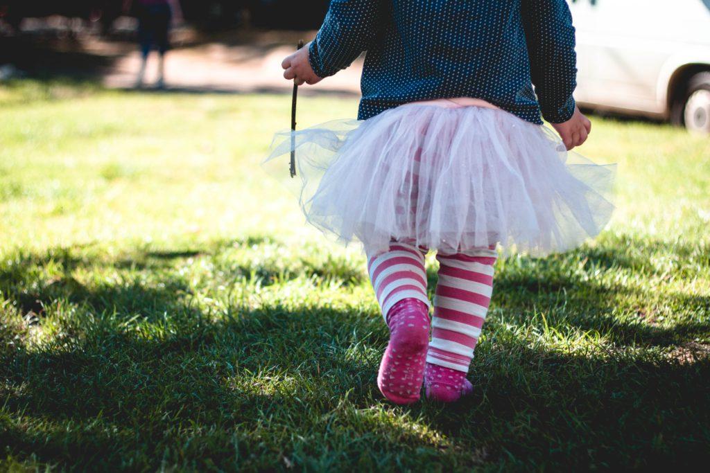 Child wearing socks.